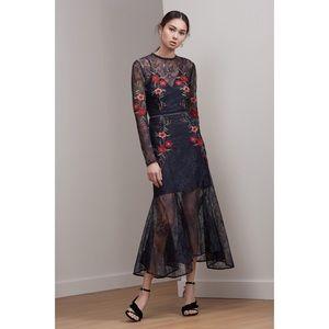 KEEPSAKE Dreamscape Lace Embroidered Midi Dress